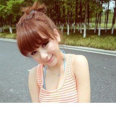 清新夏日齐刘海萝莉发型很柔美!