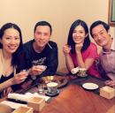 甄子丹夫妇与杨采妮夫妇聚会 男人帅女人美