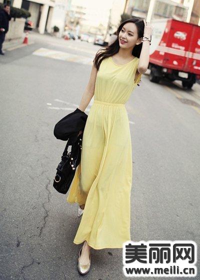 春季几款韩版连衣裙的造型技巧